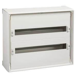 Навесной комплектный шкаф (без двери) Prisma Schneider Electric 480x555x157мм 2x24 модуля (RAL 9001)