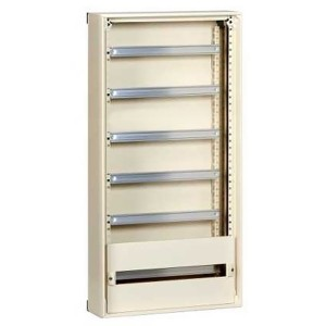 Навесной комплектный шкаф (без двери) Prisma Schneider Electric 1080x555x157мм 6x24 модуля RAL 9001