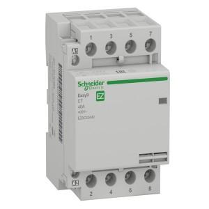 Модульный контактор Easy9 СТ Schneider Electric 40A 4 полюса 4НО  220/230В АС 50ГЦ 3 модуль