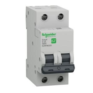 Автоматический выключатель Schneider Electric EASY 9 2П 25А D 6кА 230В (автомат)
