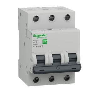 Автоматический выключатель Schneider Electric EASY 9 3П 25А D 6кА 400В (автомат)