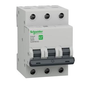 Автоматический выключатель Schneider Electric EASY 9 3П 32А D 6кА 400В (автомат)
