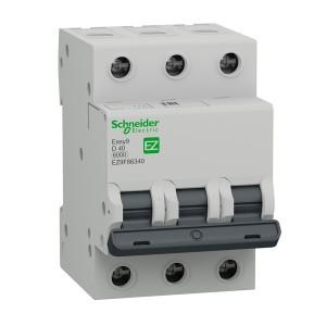 Автоматический выключатель Schneider Electric EASY 9 3П 40А D 6кА 400В (автомат)