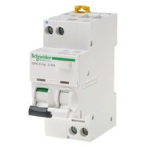 Дифференциальный атомат Schneider Electric iDPN N VIGI 6кА 20A C (тип АС) 30мA
