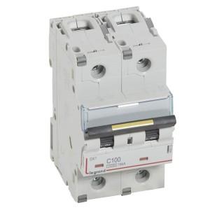 Автоматический выключатель Legrand DX3 2П C100A 10kA/16kA 3 модуля (автомат)