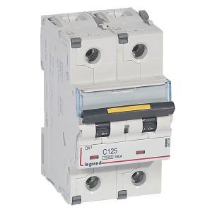 Автоматический выключатель Legrand DX3 2П C125A 10kA/16kA 3 модуля (автомат)