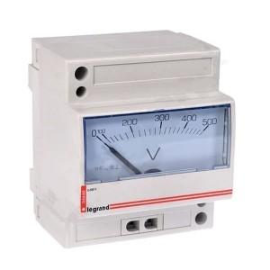 Аналоговый вольтметр Legrand 0-500В 4 модуля