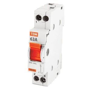 Модульный переключатель трехпозиционный МП-63 1P 63А TDM