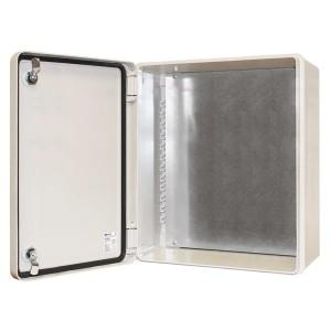 Щит антивандальный ЩПМП-3-0 GRP IP66 IK10  -50С/+70С навесной с монтажной панелью, (600х500х230) TDM