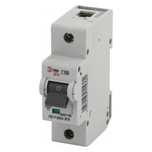 Автоматический выключатель ВА47-100 1Р 100А 10кА характеристика C ЭРА Pro (NO-901-32) (автомат)