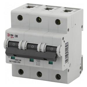 Автоматический выключатель ВА47-100 3Р 80А 10кА характеристика C ЭРА Pro (NO-901-33) (автомат)