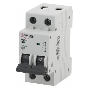 Автоматический выключатель ВА47-29 2Р 50А 4,5кА характеристика D ЭРА Pro (NO-901-35) (автомат)
