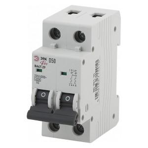 Автоматический выключатель ВА47-29 2Р 63А 4,5кА характеристика D ЭРА Pro (NO-902-157) (автомат)
