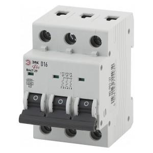 Автоматический выключатель ВА47-29 3Р 10А 4,5кА характеристика D ЭРА Pro (NO-901-40) (автомат)