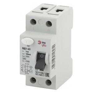 УЗО ВД1-63 электромеханическое 1Р+N 16А 100мА тип АС ЭРА Pro (NO-902-72)