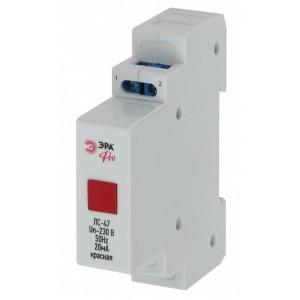 Лампа сигнальная ЛС-47 (красная) на DIN-рейку ЭРА Pro (NO-902-179)