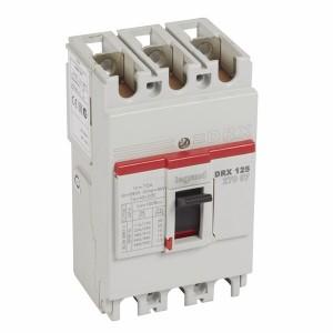 Автоматический выключатель в литом корпусе DRX125 термомагнитный фиксированный 3P 75А 10kA (автомат)