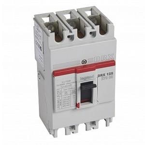 Автоматический выключатель в литом корпусе DRX125 термомагнитный фиксированный 3P 100А 10kA (автомат)