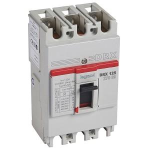Автоматический выключатель в литом корпусе DRX125 термомагнитный фиксированный 3P 125А 10kA (автомат)