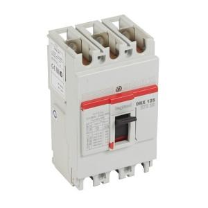 Автоматический выключатель в литом корпусе DRX125 термомагнитный фиксированный 3P 125А 20kA (автомат)