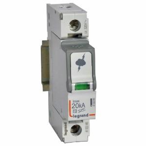 Разрядник Legrand 1-полюсный тип Т2 Imax 20 кА 320В 1 модуль