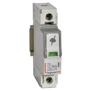 Разрядник Legrand 1-полюсный тип Т1+Т2 Imax 12 кА 320В 1 модуль