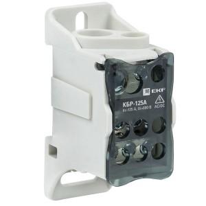 Блок распределительный КБР на DIN-рейку и монтажную панель 125A  8 зажимов EKF PROxima