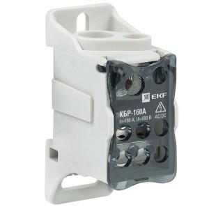 Блок распределительный КБР на DIN-рейку и монтажную панель 160A  8 зажимов EKF PROxima