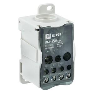 Блок распределительный КБР на DIN-рейку и монтажную панель 250A  12 зажимов EKF PROxima