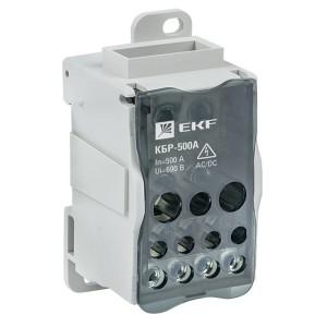Блок распределительный КБР на DIN-рейку и монтажную панель 500A  11 зажимов EKF PROxima