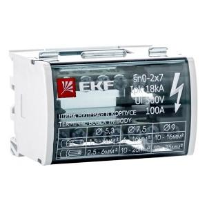 Модульный распределительный блок (кросс-модуль) 2х7 контактов 125A EKF PROxima
