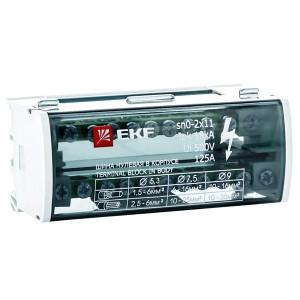 Модульный распределительный блок (кросс-модуль) 2х11 контактов 125A EKF PROxima