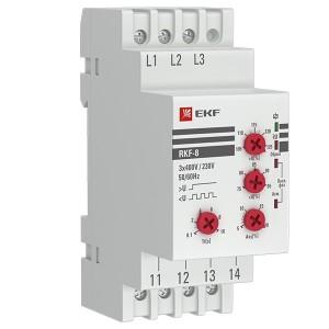 Реле контроля фаз многофункциональное RKF-8 1НО+1НЗ 280-500В 50/60Гц EKF PROxima