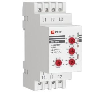 Реле контроля фаз RKF-11m 1НО/НЗ 280-480В 50/60Гц EKF PROxima