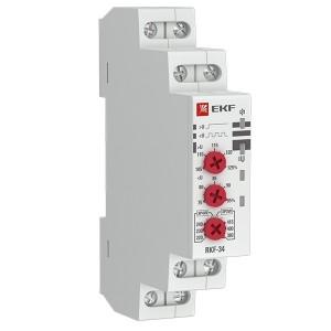 Реле контроля фаз RKF-34 1НО+1НЗ 8А 154-540В 50/60Гц  EKF PROxima