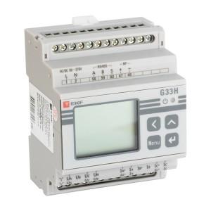 Многофункциональный измерительный прибор G33H с жидкокристалическим дисплеем на DIN-рейку EKF