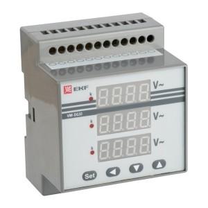 Вольтметр VD-G33 цифровой на DIN трехфазный EKF PROxima