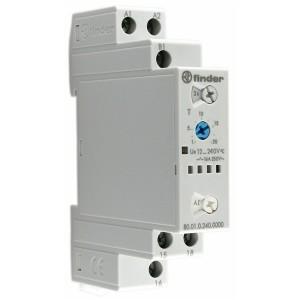Модульный таймер мультифункциональный (AI, DI, SW, BE, CE, DE) Finder 12…240В АС/DC 1CO 16А 0,1с-24ч