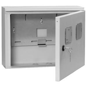 Щит металлический влагозащищенный ЩУ 1/2-0 74 У1 IP54, на два 1-фазных счетчика 310х420х150 ИЭК