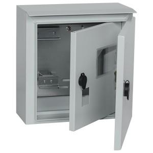 Щит металлический влагозащищенный ЩУ 1/1-1 74 У1 IP66, с внутр. дверью на 1-фаз счетчик, 310х300х150