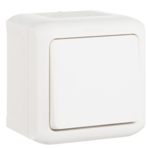 Выключатель IP44 Legrand Quteo белый