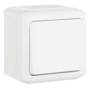 Выключатель кнопочный IP44 Legrand Quteo белый