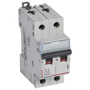 Автоматический выключатель Legrand DX3-E C10 2П 6000/6kA (автомат)