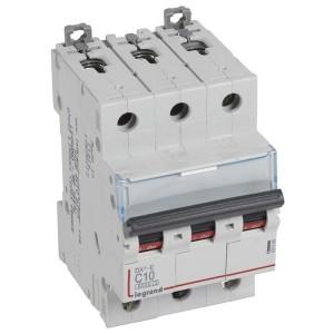 Автоматический выключатель Legrand DX3-E C10 3П 6000/6kA (автомат)