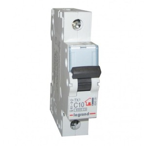 Автоматический выключатель Legrand TX3 C10A 1П 6kA (автомат)