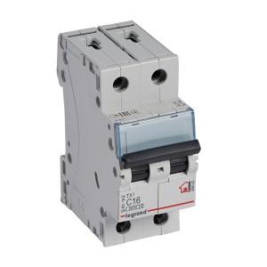 Автоматический выключатель Legrand TX3 C16A 2П 6kA (автомат)