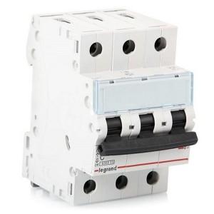 Автоматический выключатель Legrand TX3 C10A 3П 6kA (автомат)