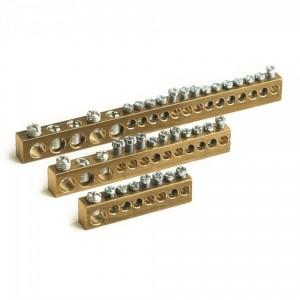 Клеммная колодка 8 модулей (отверстия диаметром 1х5,4мм+7х4,5мм)