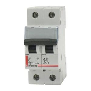 Автоматический выключатель Legrand DX 2-полюсный 20A -2М(тип С) (автомат)