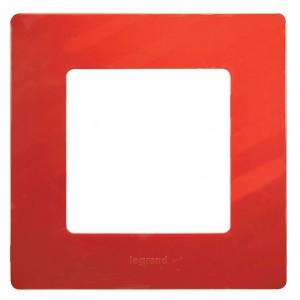 Рамка Legrand Etika 1 пост, красный